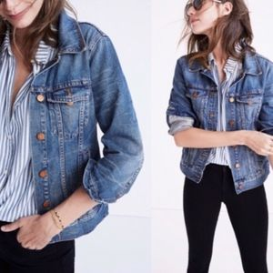 Madewell The Jean Jacket in Pinter Wash SZ S